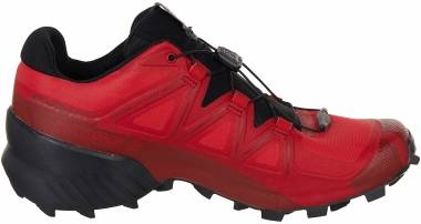 Salomon Speedcross 5 - Black/Stormy Weather/Red Orange (L411166)