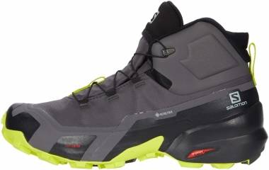 Salomon Cross Hike Mid GTX - Magnet/Black/Lime Punch (L411186)