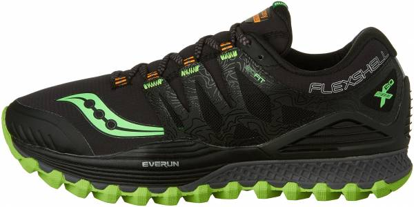 Saucony Xodus ISO Runshield men black/slime/vizipro orange