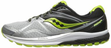 Saucony Ride 9 - Silver/Black/Lime