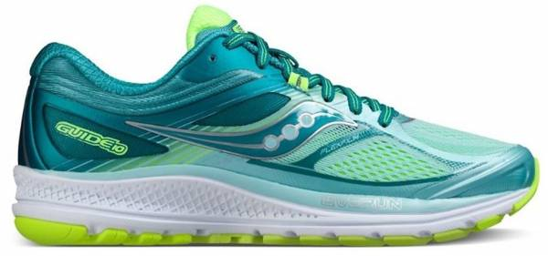 Saucony Guide 10 woman tu00fcrkis/gelb