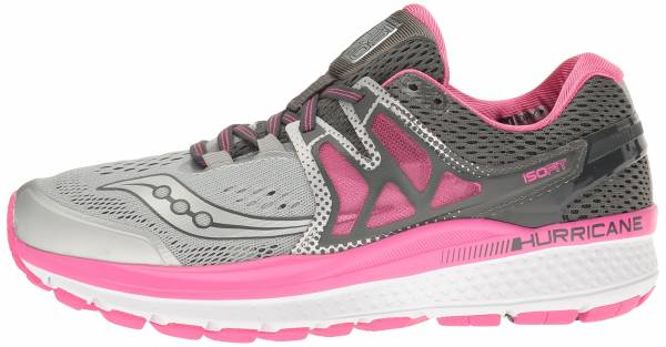 Saucony Hurricane ISO 3 woman grey/pink/white