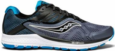 Saucony Ride 10 Grey/Black/Blue Men
