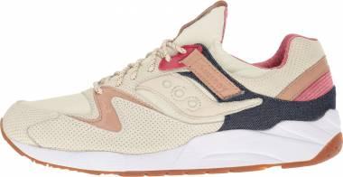 separation shoes f6a92 52806 Saucony Grid 9000 Beige Men