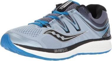 Saucony Gray & Aqua Hurricane ISO 4 Running Shoe Women