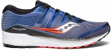 Saucony Ride ISO Grey/Blue/Vizi Red Men