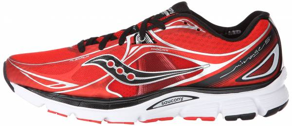 red and black saucony