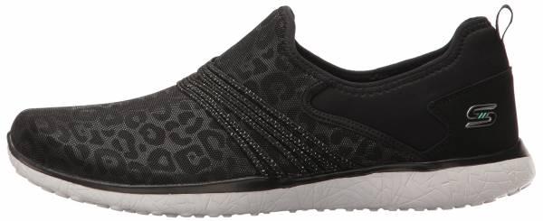 Skechers Damen Microburst – Showdown, Sneaker, Schwarz