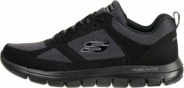 Skechers Flex Advantage 2.0 - Negro Bbk Black Trubuck Mesh Trim (51280BBK)