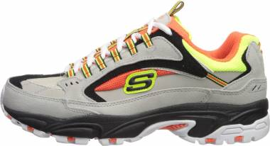 Skechers Stamina - Cutback - Gray/Orange