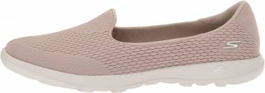 Details about femmes Skechers Go Walk Lite Shanti chaussures In Taupe
