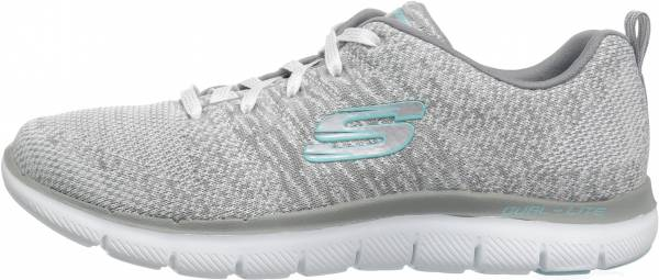 Skechers Flex Appeal 2.0 - High Energy - White White Grey (128)