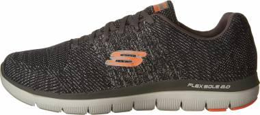 Skechers Flex Advantage 2.0 - Missing Link - Charcoal/ Orange