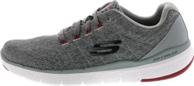 Skechers Flex Advantage 3.0 - Stally - Charcoal/Red