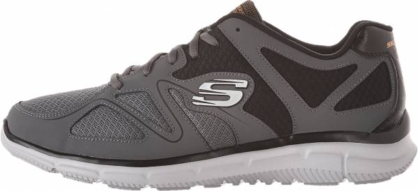 Skechers Satisfaction - Flash Point - Charcoal/Orange (CCOR)