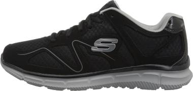 Skechers Satisfaction - Flash Point - Black/Gray (BKGY)