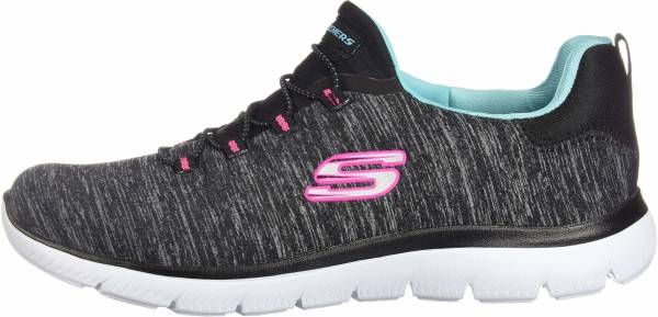 6b00cb3f2db2 Skechers Summits - Quick Getaway Black Light Blue  Pink