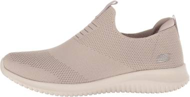 SKECHERS SKECHERS Ultra Flex First Take (Taupe) Women's Shoes from Zappos | Real Simple