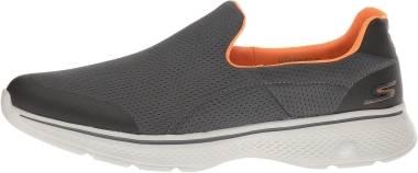 Skechers GOwalk 4 - Incredible - Charcoal/ Orange (CCOR)