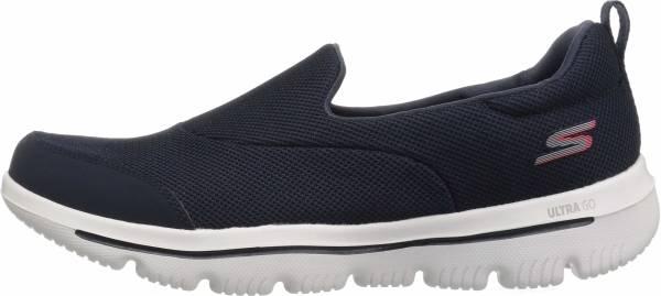 Skechers GOwalk Evolution Ultra - Reach - Blue Navy Textile White Trim Nvw (424)