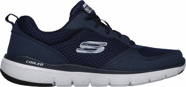 Skechers Flex Advantage 3.0 - Blue Navy Leather Mesh Trim Nvy (52954NVY)