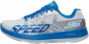 Skechers GOrun Razor 3 Hyper - Blanco Azul (WBL)