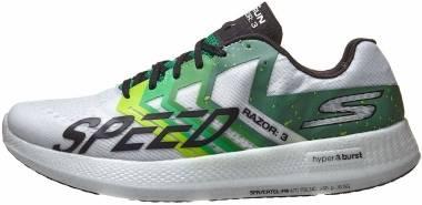 Skechers GOrun Razor 3 Hyper - White/Green (WGRN)