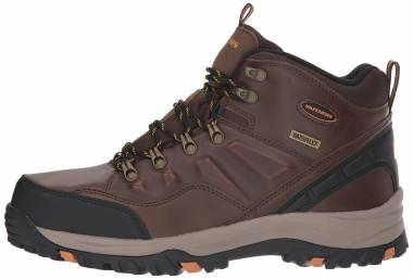 Skechers Relment Traven - Brown Dark Brown Leather Dkbr
