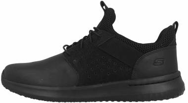 Skechers Delson - Axton - Black Black Leather Bbk (BBK)