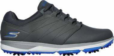 Skechers GO GOLF Pro v.4 - Grey/Blue -  Mens Leather (GYBL)