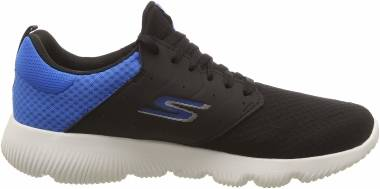 Skechers GOrun Focus - Athos - Black Black Textile Blue Trim Bkbl