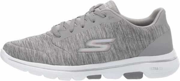 Skechers GOwalk 5 - True - Gray Textile Trim Gry (037)