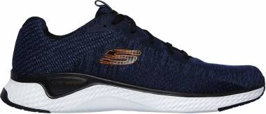 Skechers Solar Fuse - Kryzik - Blue Navy Mesh Synthetic Black Trim Nvbk (600)