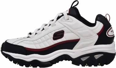 Skechers Energy Afterburn - White/Navy Blue (WBRD)