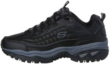 Skechers Energy Afterburn - Black Leather (Bbk) (BBK)