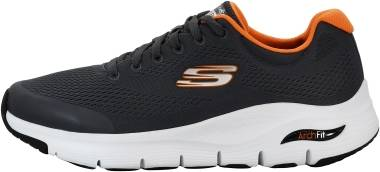 Skechers Arch Fit - Charcoal/Orange (CCOR)