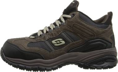 Skechers Work Relaxed Fit: Soft Stride - Canopy Comp Toe - Brown Black (203)