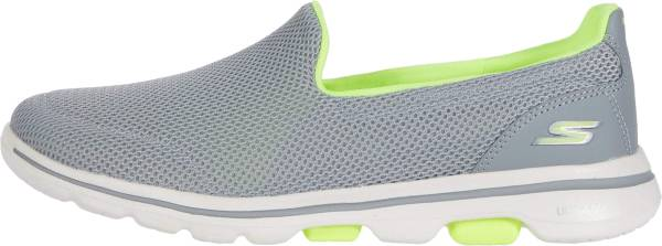 Skechers GOwalk 5 - Fantasy - Gray/Lime (507)