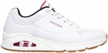 Skechers Uno - Stand On Air - White/Navy/Red (52458WNVR)