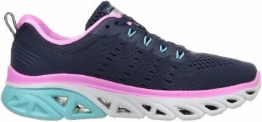 Skechers Glide Step Sport - Navy Mesh Pink Lt Blue Trim (NVMT)