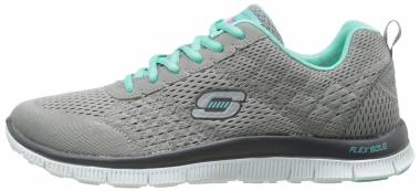Skechers Flex Appeal - Gray/Turquoise (GYTQ)