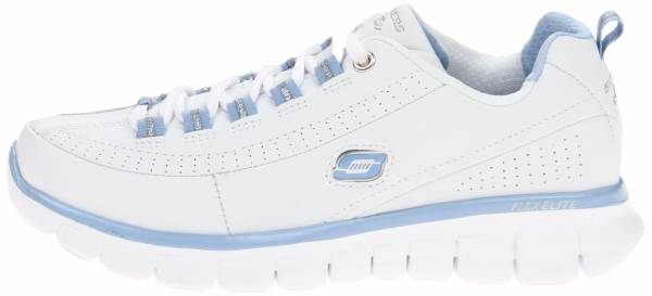 Skechers Synergy woman white/silver leather
