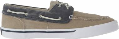 Sperry Bahama II Boat Washed - Taupe/Navy (STS17782)