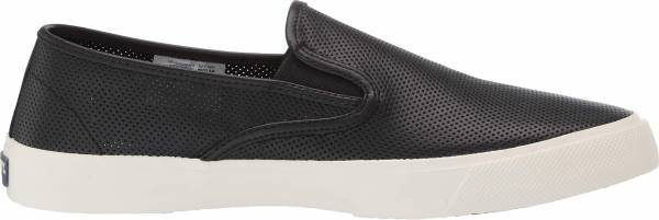 Sperry Captain's Slip On Perforated Sneaker - Black Perf