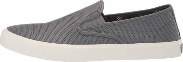Sperry Captain's Slip On Perforated Sneaker - Grey