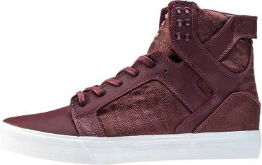 Supra Skytop - Burgundy Leather Herringbone Nylon (08174650)