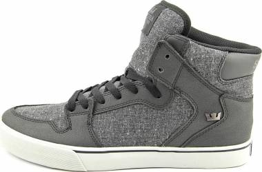 Supra Vaider - Black Leather/Charcoal Speckled Textile (S28247)