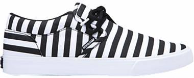 Supra Cuba - Black/White Stripe