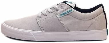 Supra Stacks Vulc II Light Grey / White Men
