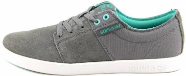 Supra Stacks II - Charcoal Suede/Canvas